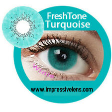 Color contacts freshtone Turqouise. A pair with Lens case