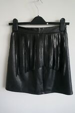H&M DIVIDED LADIES LEATHER TASSEL SKIRT, EXCELLENT CONDITION. SIZE 8