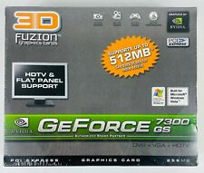 3D Fuzion GeForce 7300 GS PCI Express Graphics Card 256MB