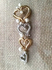 ST JOHN COLLECTION..DESIGNER JEWELRY..PIN/BROOCH - Pearls & hearts