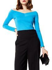 Karen Millen Bardot Top Turquoise Size UK 16 EUR 44