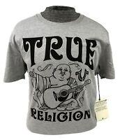 True Religion Shirt Graphic Logo T-shirt Buddha Mens Grey Crew Neck M L XL 2XL