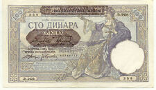 Billet banque SERBIE SERBIA YOUGOSLAVIE YUGOSLAVIA 100 DINARA 1941 UNC NEUF 359