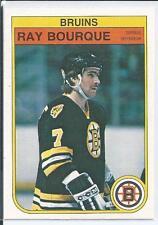 Ray Bourque  Boston Bruins  82/83 O-Pee-Chee OPC  #7  Base Card