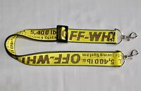 OFF WHITE YELLOW CLASSIC W35 mm NECK SHOULDER STRAP METAL CLIP  FOR DSLR/SLR CAM