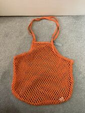 BNWT Oliver Bonas Niki Net Orange Shopper Bag