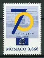 Monaco 2019 MNH Council of Europe 70 Years 1v Set EU Politics Stamps