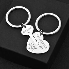 2Pcs You Hold The Key To My Heart Forever Keychain Keyring Couple Lover Gift AGG
