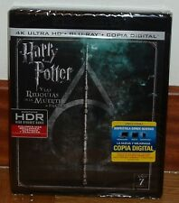 HARRY POTTER AND THE HALLOWS DE LA DEATH 2 PARTE-4K ULTRA HD+BLU-RAY NEW R2