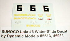 SUNOCO Lola #6 Water Slide Decal by Dynamic Models #5513, 46911 slot car NOS
