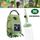 20L Portable Solar Showfer Bag Water Heater Outdoor Camping w/Shower Head Faucet