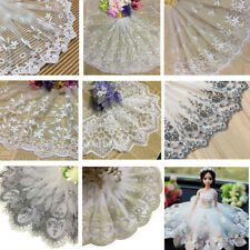 1Yd Vintage Styles Flower Embroidered Lace Trim Ribbon Bridal Applique Sewing