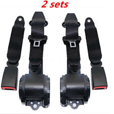 2x Universal 3 Point Retractable Seat Belt fit for Jeep CJ YJ Wrangler 1982-1995
