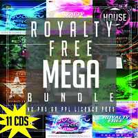 Royalty free music Bundle Mega Pack 11 CD - PPL PRS Licence Free Royalty Free CD