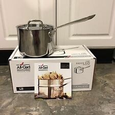 All Clad Stainless Steel 18/10 Tri-ply 2-Quart Covered Saucepan NEW/ AUTHENTIC