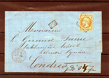 NAPOLEON   N°23. 40c. Orange s/Lsc .St PERAY pour LONDRES. PD dans 1 rectangle