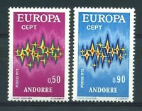 "ANDORRE STAMP YVERT N° 217 / 218  "" EUROPA 1972 2 TIMBRES "" NEUFS xx LUXE"