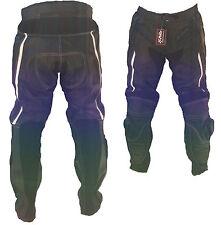 Pantalone MOTO  PELLE NERO-BIANCO-900- PROTEZIONI-CE