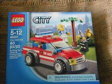 Lego city FIRE CHIEF CAR RESCUE 60001 80 PCS 2 MINI FIGURES CAT FISH NEW IN BOX