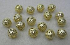 16 x 7mm Bali Metal Filligree Spacer Beads Gold Tone Bead For Beading, Jewellery
