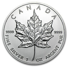 2012 1 oz Silver Canadian Maple Leaf Coin