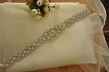 Wedding Dress Sash Thin Bridal Belt Bridesmaid Belt DIY Wedding Sash Applique