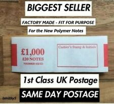 More details for £20 new polymer notes money bands money currency straps (select quantity)