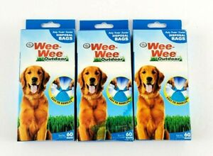 3 Pack 180 Bags Four Paws Wee-Wee Outdoor Disposable Waste Bags NEW