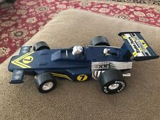Vintage Radio Shack Formula One Road Racing Race Car Blue #7 (JL)