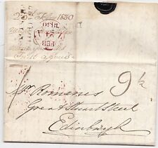 * 1830 BERWICKS LEITHOLM PENNY POST  DUNS PMKS LETTER MAJOR BROUGHTON? EDINBURGH