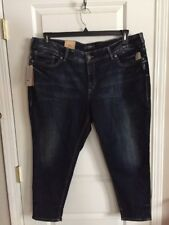 NWT SILVER Suki Skinny Crop Capri Jeans Womens Plus Size 24