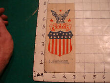 Vintage Paper: early iron on transfer GOD BLESS AMERICA, neat and nice