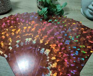 20 x Bronze Crackle Mirri Card Strips - 10cm X 20cm Topper Backing Sheet
