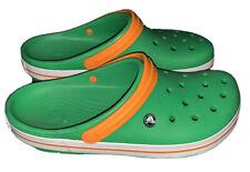 Crocs Crocband II Green/Orange/White Clog Size 13