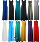 NEW LADIES KNOT MAXI DRESS WOMENS STRAPLESS PLAIN BANDEAU maxi dress All Sizes