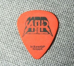 ALL AMERICAN REJECTS // Mike Kennerty Tour Guitar Pick // Orange/Black Tree e