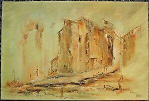 Mid Century Impressionist Oil Painting by Vashti Trudeau - PolperroHarbor