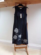 BNWT Women's JOHN ROCHA Linen Dress UK 12 Fully Lined Garden Party Work