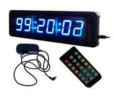 "1.8"" Blue Digital LED Wall Clock For Home Office Countdown/up Timer With Remote"