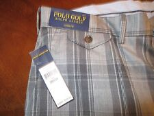 Polo Golf Ralph Lauren Links Fit Wool Pants Grey Plaid 38x34 New with tags $245