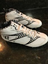 Warrior Burn Speed 4.0 Mens Lacrosse Screw In Cleats White / Silver Size 9