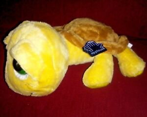 Applause Russ Berrie SHELLY the Turtle Big Eyed 10in Gold Brown Soft Plush Tag
