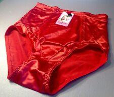 Women Control Panties,Breifs ANNE DIANE Size XL Satin Red Soft Silky