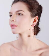 Ohrstecker Durchzieher Perle & Herz & Kristall Venezianerkette rose`vergoldet