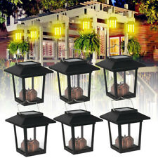 6PCS Solar Lantern Hanging Light LED Yard Outdoor Garden Landscape Lamp Decor US