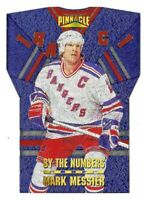 1996-97 Mark Messier Pinnacle By The Numbers Die Cut - New York Rangers