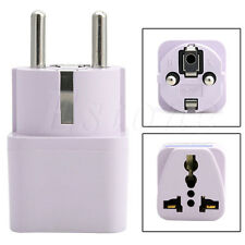 Universal US AU UK to EU Socket Plug AC Power Travel Charger Adapter Converter