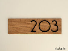 Interior Modern House Numbers, Wood with Black Acrylic-Sign Plaque-Door Number