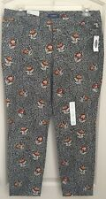 NWT Old Navy, Floral Pixie Pants, Size 14 Regular