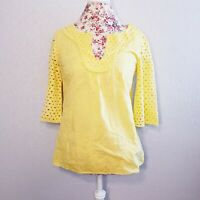 Tabitha Anthropologie Eyelet Sleeve Top Women's Size Small